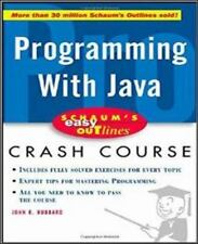 Programming with Java by John R. Hubbard (2001, Paperback) *E-Lo-Media