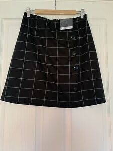 Genuine Matalan Black And White Check Skirt Size 14