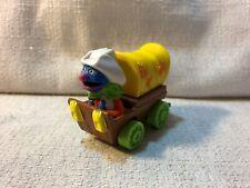 Vintage 1987 Muppets Playskool Grover Diecast Metal Toy Car Cowboy