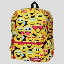 "Emoji - Because I'm Happy 16"" Backpack from Emojination®, Black w/Yellow Emojis"
