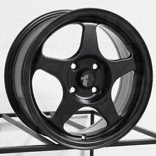 """AVID1 AV08 15x6.5 4x100 35 Matte Black Wheels(4) 73.1 15"""" inch Rims"""