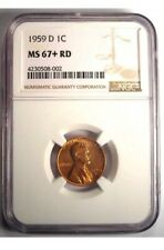 1959-D 1C NGC MS67+RD — Registry Quality Plus Grade Gem! — MSRP Of $2400