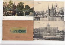 Lot 4 cartes postales anciennes PAYS-BAS HOLLANDE NEDERLAND DELFT 2