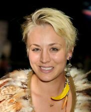 Kaley Cuoco With Yellow Feather Earring 8x10 Photo Print