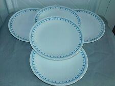 6 Vintage CORELLE CORNING Snowflake Blue Garland Dinner Plates