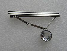Vintage Russian Silver 875  Tie Clip with Rock Cristal