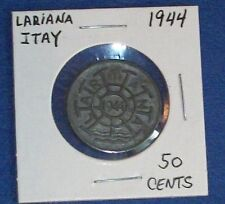 1944 50 CENT TOKEN STEAMBOAT FERRY NAVIGATION LAKE COMO MILAN ITALY GETTONE COIN