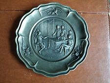 Birth of a Nation pewter plate:Signing of the Declaration of Independence