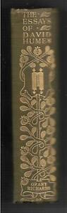 Antique book Essays Moral Political & Literary by David Hume 1903 vgc hardback