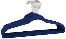 Signature Home Velvet Multi Purpose Hanger Pack, Navy, Set of 24
