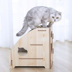 PET 3 STEPS STAIRS Dog Cat Anti-slip Removable Foldable Small Pet Ramp Ladder
