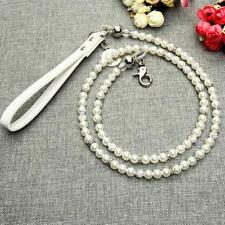 Dog Leash Pet Collar Pearl Chain Necklace Rope Lead Walking Harness Jogging Lead
