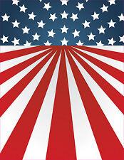 "Vertical American Flag 6"" Premium Vinyl Bumper Sticker Decal Patriotic USA"