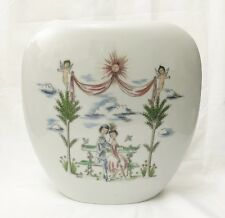 Rosenthal Porcelain Vase Vintage Raymond Peynet The Lovers Hand Painted MCM