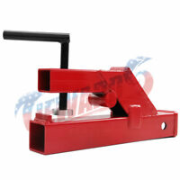"""Clamp On Trailer Hitch 2"""" receiver Tractor Bucket Red"""