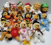 "Disney Winnie the Pooh Bean Bag Plush in Costume 8"" Holiday"