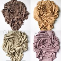 Suede Hijabs Premium Quality Elegant Maxi Scarf Sarong Shawl Wrap Cape