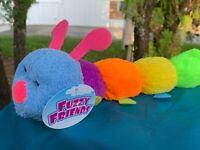 "Fuzzy Friends Beautiful Colorful Red Snake 21/"" Soft Plush Stuffed Animal Toy"