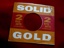 "SOLID GOLD ~ ~ VINTAGE ORIGINAL ~ RECORD COMPANY SLEEVE ~ 7"" SINGLE 45 RPM"