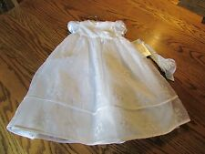 Picture Perfect White Dress & Headband By Sweetheart Rose Size 3-6M NWT $70