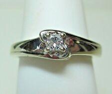 10K White Gold Ladies Diamond Engagement Ring - Estate Jewelry #3132