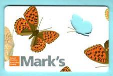 MARK'S ( Canada ) Butterflies 2012 Die-Cut Gift Card ( $0 )
