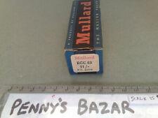 VINTAGE MULLARD ECC83 VALVE BOX.