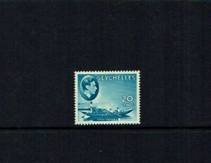 Seychelles: 1938 King George VI definitive, 20c blue, SG 140, Mint