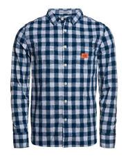 Camisas y polos de hombre azul Superdry 100% algodón