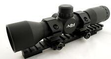 AIM 4 X32 SNIPER SCOPE KIT SET FOR RUGER MINI 14 RANCH RIFLE WEAVER RAIL RINGS