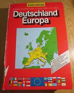 Für Sammler: EURO ATLAS 1991 / 1992 91 / 92 DEUTSCHLAND / EUROPA 1:300.000