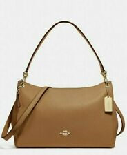 NEW Coach F28966 Mia Light Saddle Pebble Leather Shoulder Purse Bag MSRP $398