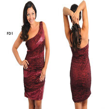 FD1 Red Womens Size 16/18 Formal Wedding Cocktail Evening Party Sexy Dress Plus