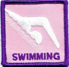 SWIMMING Iron On Patch Swimmer Water Sport Swim