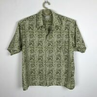 Natural Issue Camp Shirt Mens Size XL Green Short Sleeve Button Down Soft Wash