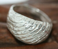 Vintage Estate 925 Sterling Silver Striped Dome Top Ladies Women's Ring Sz 6