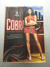 BRAND NEW Budweiser King Cobra Beer Hot Black Girl Model Poster