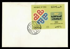 DR WHO 1983 IRAQ FDC WORLD COMMUNICATIONS YEAR IMPERF S/S  f95187