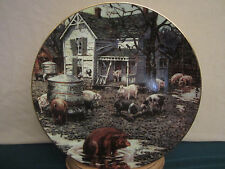 The Old Home Place Collector Plate Lowell Davis Pen Pals Rare Pig Pigs
