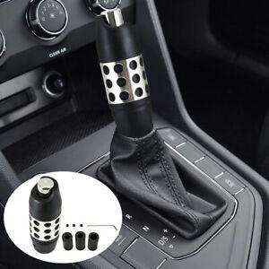 Car Gear Shift Knob Black CNC Shifter Lever Stick Cover Auto Truck Accessories