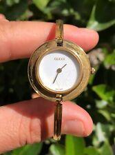 Authentic Gucci 11/12.2 Quartz Gold Tone Ladies Watch Interchangeable