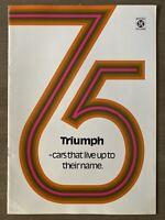 1975 Triumph Range original British sales brochure