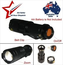 400LM LED Cree Flash Light Zoom Torch Takes 1 AA Battery (Not Included) 3 Modes