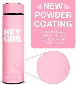 Hey Girl Tea Infuser Bottle - Travel Tea Tumbler Herbal Loose Leaf Tea Pink 15oz