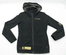 Adidas Real Madrid Full Zip Hoodie Jacket Womens Small Black Gold