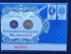 2013 Centenary of the First Commonwealth Banknote 20c Coin and FDC