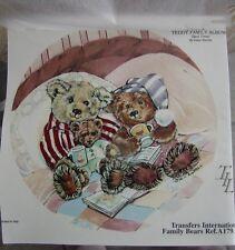 "Teddy Bear ~ Rub On Tatouage ~ Bears Cubs ~ Bed Time ~ Pajamas~ 7-1/4"" ~ Awesome"
