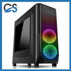 Black Gaming PC Computer Intel i5 11600K 2TBHDD 480GBSSD 32GB RAM 6GB GTX1660