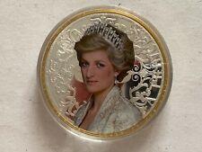 Medaille Gigant 100 mm, Prinzessin, Princess Diana, Cu versilbert