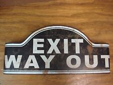 *METAL SIGN CINEMA HOME THEATER movie room exit METAL reel wall art plaque black